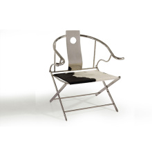 Modern simple stainless steel folding chair