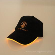 ventes chaudes a mené la ball cap lumière conduit de lumière de haute qualité ball cap