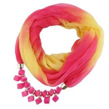 New style arrived women fashion Printed gradient ramp chiffon jewelry pendant scarf