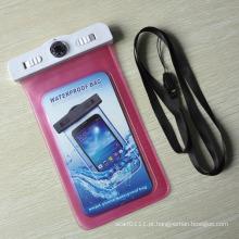 Saco impermeável selado 100% do PVC do telefone esperto com termômetro (yky765)