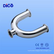 Food Grade U Type Welding Tee for Sanitary Stainless Steel