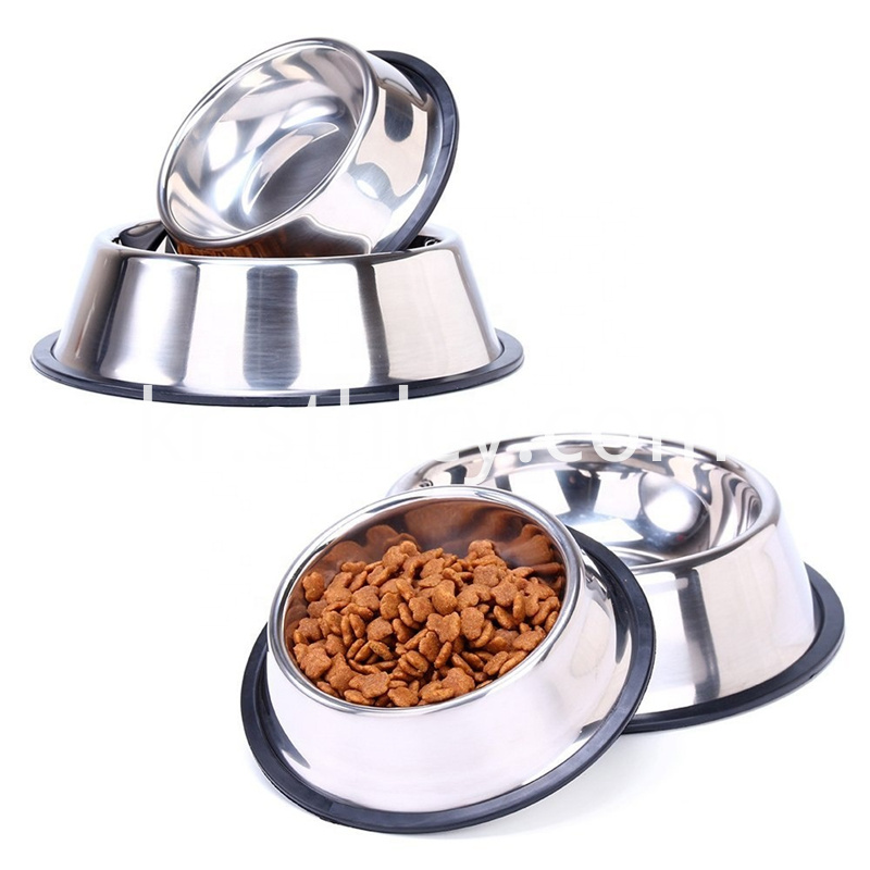 Melamine rebound rubber base pet bowl