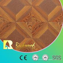 Plancher en bois de stratifié de stratifié de vinyle blanc commercial de chêne de 12.3mm AC4
