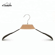 Assessed Supplier LINDON Strong Metal Vinyl Coat Hanger with Wooden Parts