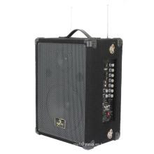 Altavoz portátil PA con SD, USB y dos micrófonos de mano
