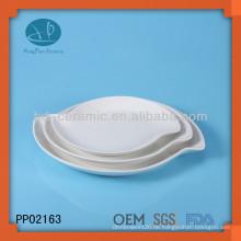 Kundenspezifische Perle Porzellan Platte, Teller für Restaurant, Geschirr moderne Gerichte