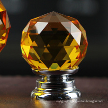 30mm High Quality Amber Fine Glass Clamp Pull for Cabinet