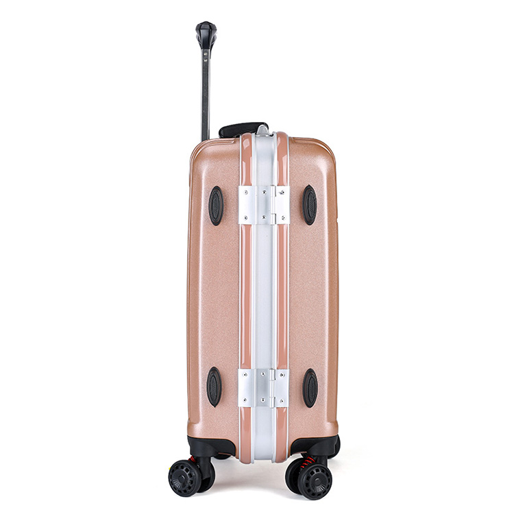 Aluminum frame hard ABS shell luggage11