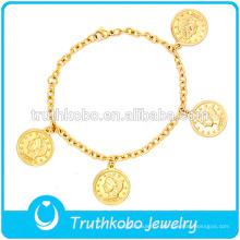 bracelet de médaille d'or dans le modèle de prêtre conception chaude mode Chine usine 316L en acier inoxydable ou 304