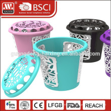 2015 twin color large capacity plastic PP/PE seagrass basket