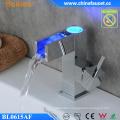 Bathroom LED Light Temperature Control Automatic Rectangle Faucet