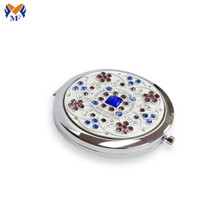 Rhinestone Pocket Mirror