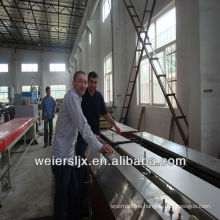 printing laminating process twin screw extruder pvc ceiling production line
