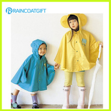 Cute Design Nylon PU Kids Rain Poncho Kids Raincoat Rpy-014