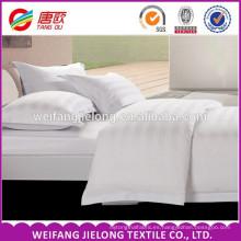 Tela blanca 100% de rayas de raso de algodón / Fabricante de telas chinas Tela 100% de rayas de raso de algodón para textiles de origen y cama de hotel