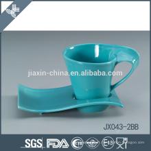 043-2BB 180CC Tasse à café en céramique et soucoupe