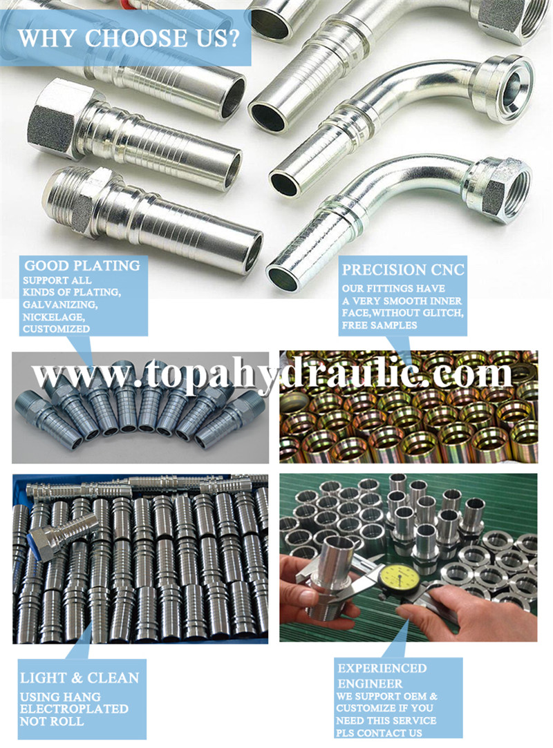 Nickle-plated eaton hydraulic fitting ferrules