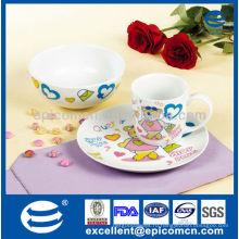 Подарочный набор для кухонной утвари из фарфора, фарфора, 3шт. Для детей