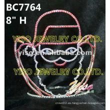 Tiaras corona de diamantes de imitación