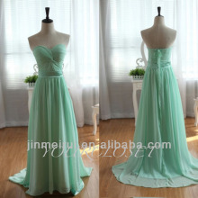 2016 Dress Design Real Photos A-line Floor Length Chiffon Emerald Green Cheap Dubai Evening Dress 2014 DE305