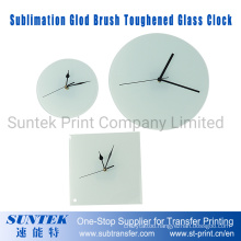 Sublimation Blank Glass Photo Frame with Clock