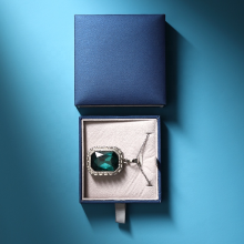 Blue Leather Jewelry Packaging Box