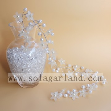 Artificial White Pearl Bead & Flower Tree Branches