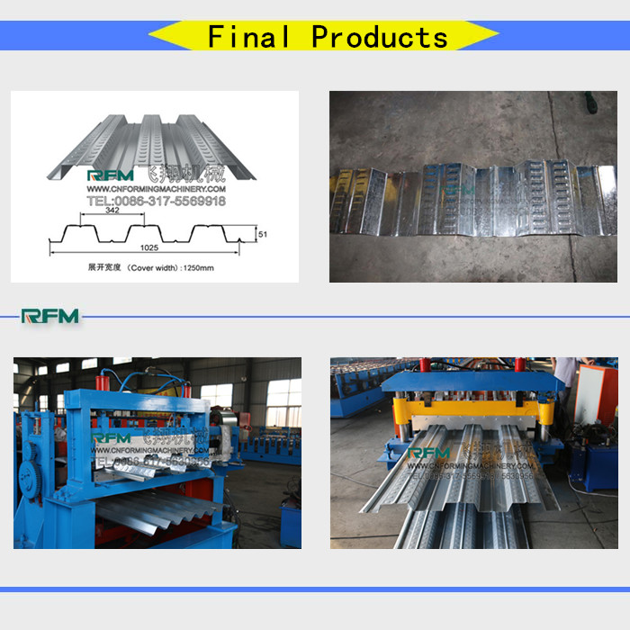 Galvanized steel metal deck floor making machine