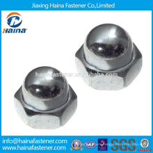 Made in China in Stock Stainless steel m6 m8 m10 hex cap nut Hex acorn nut