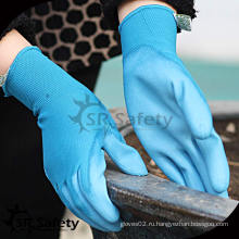 SRSAFETY 13G Нейлоновые трикотажные PU Пальто Пальто защитные рабочие ПУ перчатки