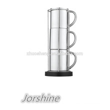 new design stainless double wall coffee mug set KT008