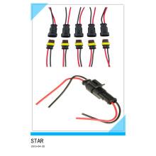 Tomada impermeável do conector elétrico do carro da maneira de 2 Pin