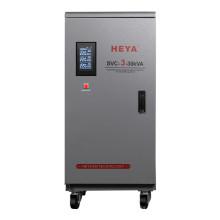 High Accuracy LCD Display 3 Phase 6Kva 380v 415v Servo Type AC Automatic Voltage Regulator/Stabilizer/AVR