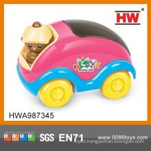17CM Colorful B/O Cartoon Mini Music Car Toy With 3D Light