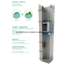 Elevador de carga de Roomless da máquina com controle de Vvvf