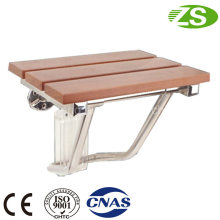 High Quality Wooden Wall Mounted Folding Bathroom Shower Chair Furniture
