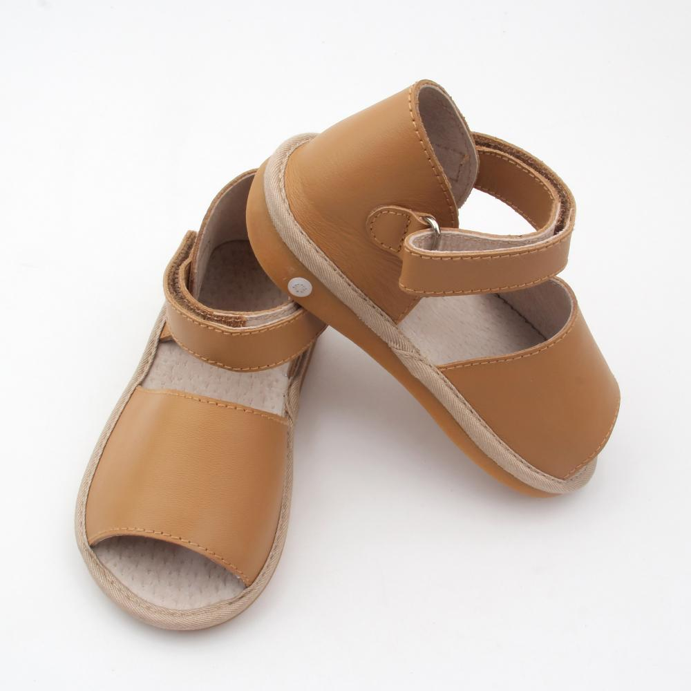Fashion Brown Kids Squeaky Sandals 2018