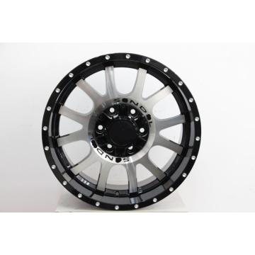 Replica 18x9.0 Black Machine Face Felge