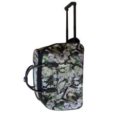 Beauty leather trolley duffel bag