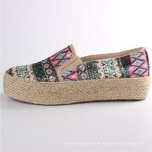Damenschuhe Canvas Schuhe mit Hanfseil Rubber Outsole Snc-28065