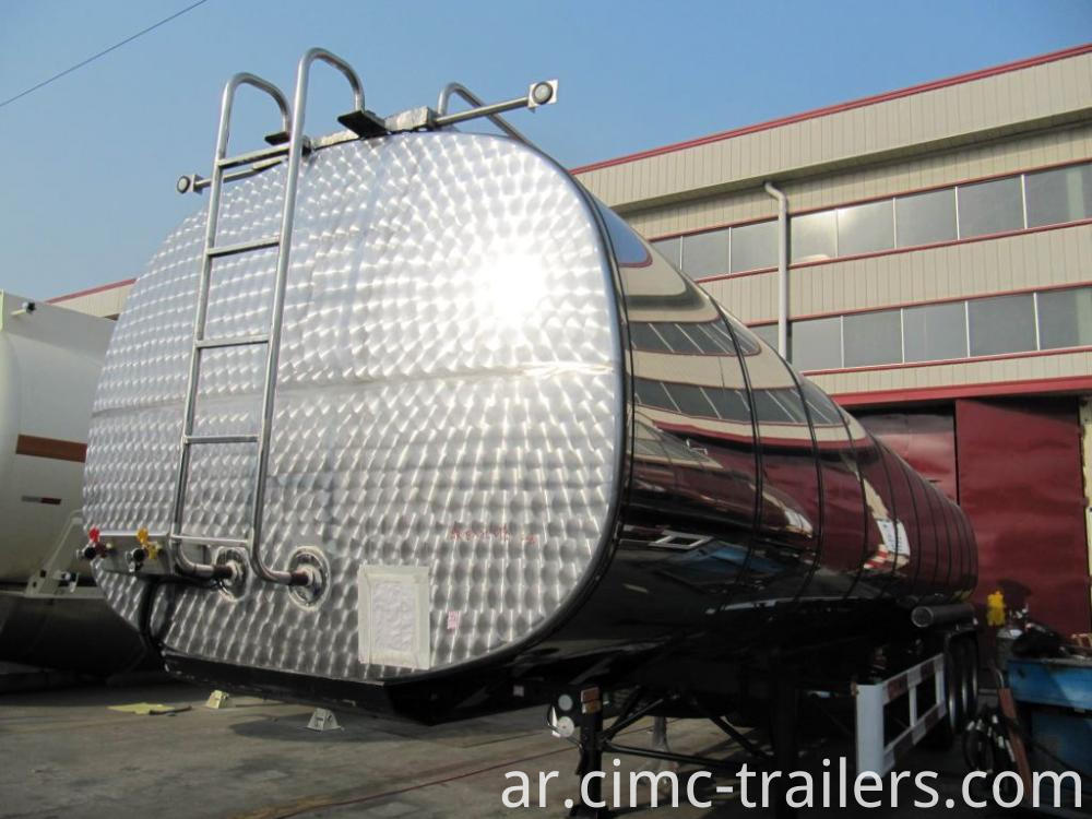 Lf Road Insulation Tank Semi Trailer For Transporting Bitumen