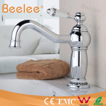 Exclusive Luxury Classic Brass Basin Faucets with Long Spout Chrome Plated