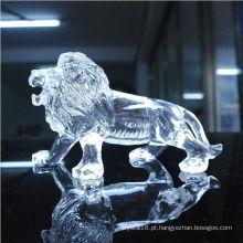 Presentes de cristal transparentes de alta qualidade do negócio das estátuas do animal ou decoração da tabela