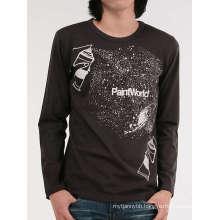 100%Cotton Wholesale Fashion Custom Long Sleeve Men T Shirt