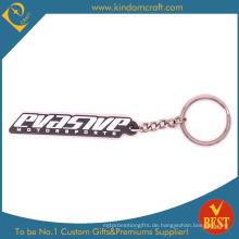 Qualitäts-Förderung-Gummi-Schlüsselkette mit kundengebundenem Firmenzeichen am Fabrik-Preis