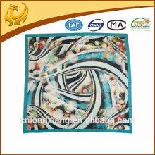new fashionable digital printed hand roll satin silk scarf