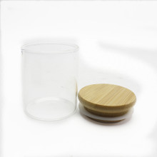glass storage jar with bamboo wood lid for kitchen food container Storage-150RL