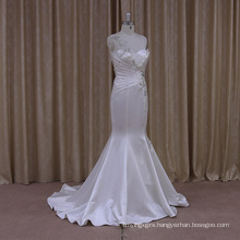 Shimmering Flare Sequins Mermaid Wedding Dresses Satin