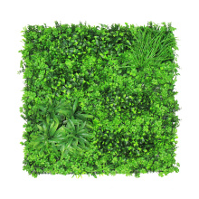 Wall decorative environmental artifical grass wall with foliage