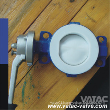Cl150/Ans 150# PTFE/PFA Lined Cast Steel A216 Wcb Butterfly Valve